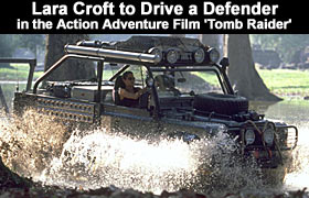"<b><font size=""3"" face=""Arial, Helvetica, sans-serif"">Lara Croft to Drive a Defender In the Action Adventure Film"
