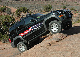 Jeep Liberty in Moab