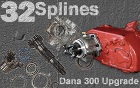 Advance Adapters 32 Spline Output Shaft Conversion for the Dana 300