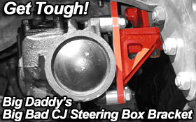 Big Daddy Offroad CJ Steering Box Bracket