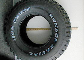 Dunlop Radial Mud Rover and Ultra Wheel Type 50 Rim