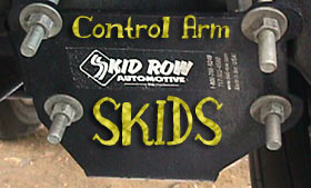 Skid Row Control Arm Skid Plates