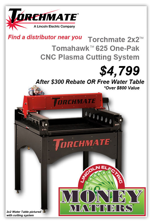 Torchmate Launches Rebate Or Free Accessory Program On 2x2