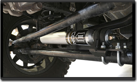 ICOM Jeep Wrangler JK Steering Stabilizer - installed