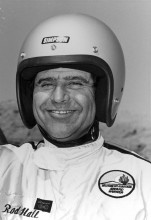 A few years have passed since Rod Hall wore an old-style open-face helmet. At 78 years of age, he still has a gleam in his eye and a youthful enthusiasm for the track.