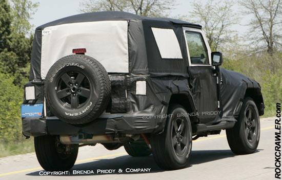 20007 Jeep Tk Wrangler Spy Shots