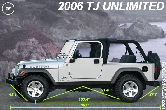 Rockcrawler Com Jeep Wrangler Dimensions