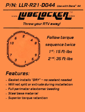 Lube Locker Dana 60 Differential Gasket
