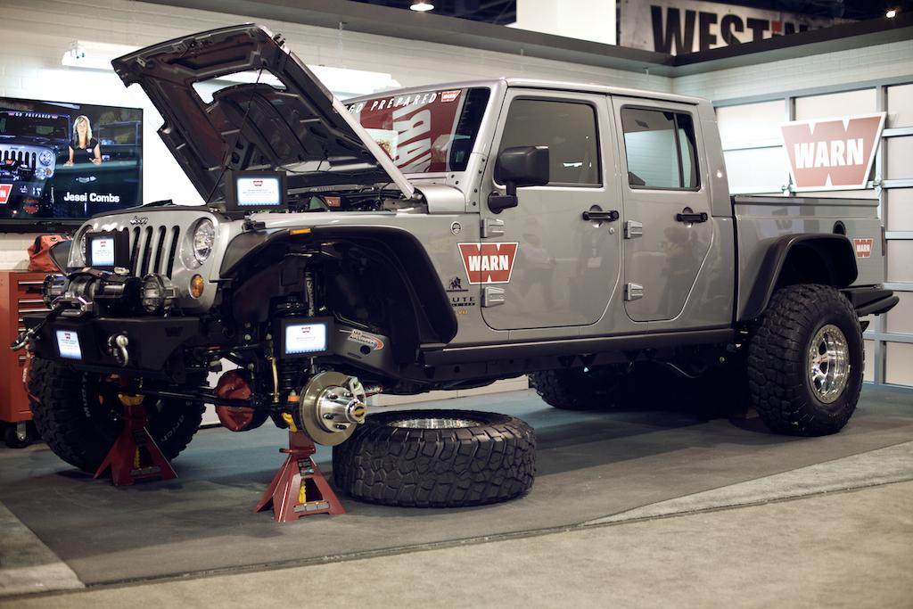 warn aev brute double cab jeep wrangler sema