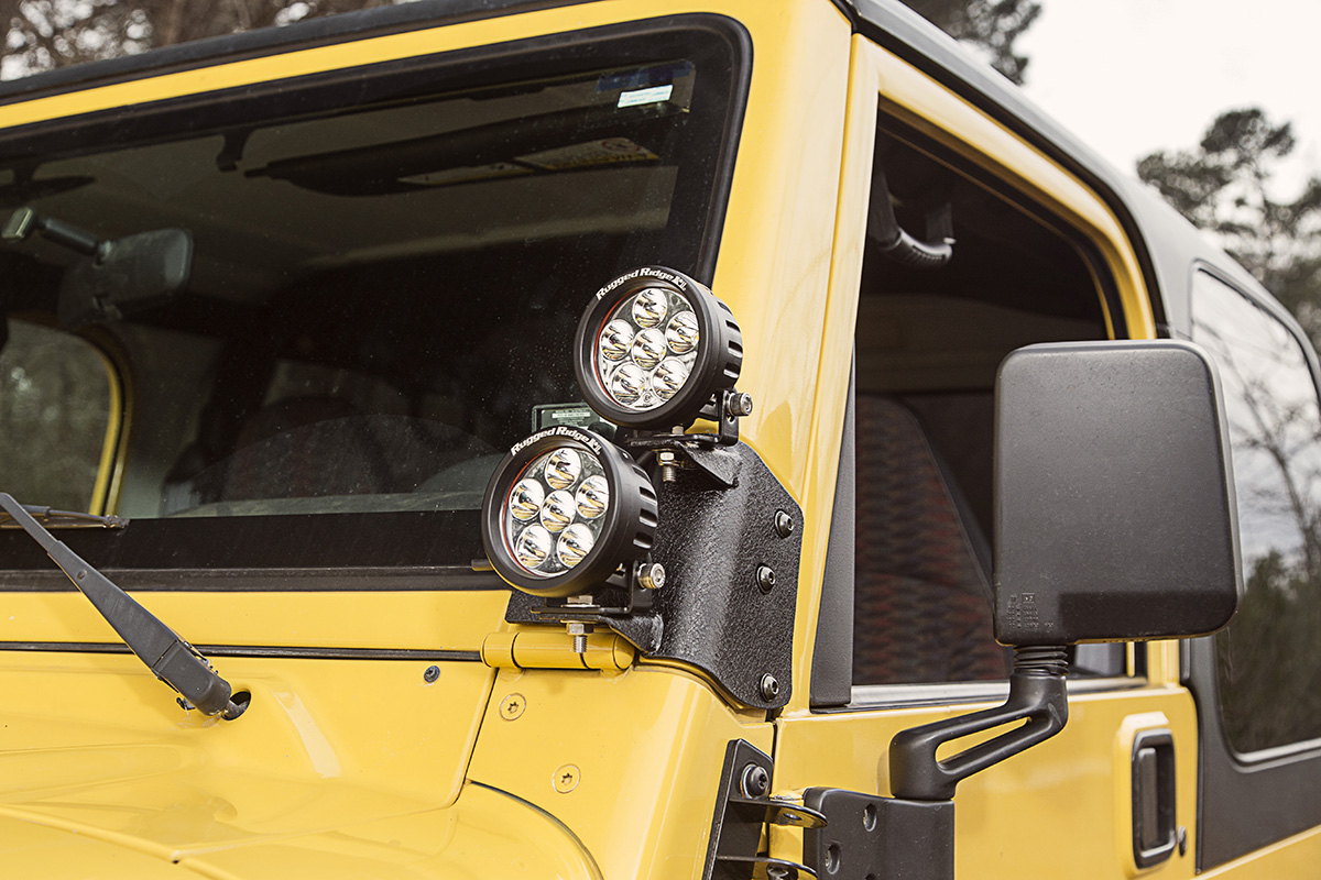 rugged ridge introduces three new lighting mount options